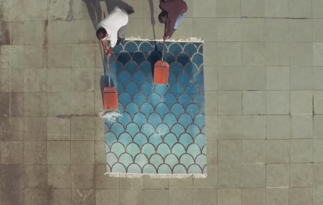 Как делают ковры ручной работы   Непальские ковры