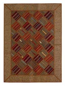 205×148. Серый килим-пэчворк, персидский