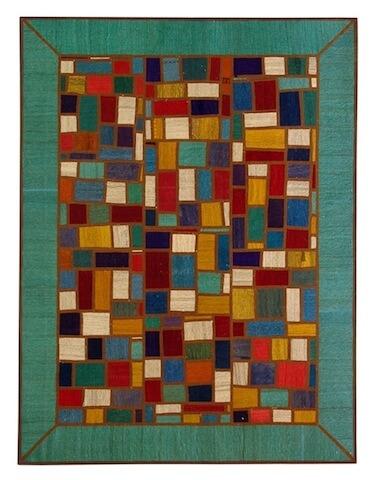 205×155. Разноцветный килим-пэчворк, персидский