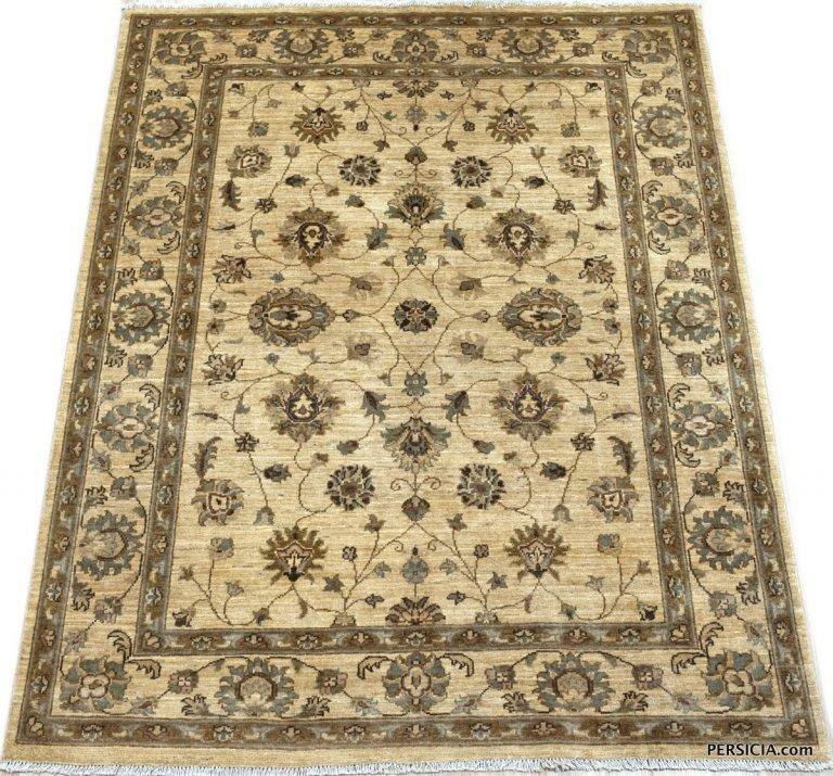 199×155. Бежево-коричневый афганский ковер Персиция