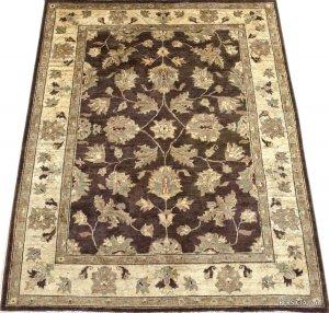 196×152. Бежевый-коричневый афганский ковер Персиция