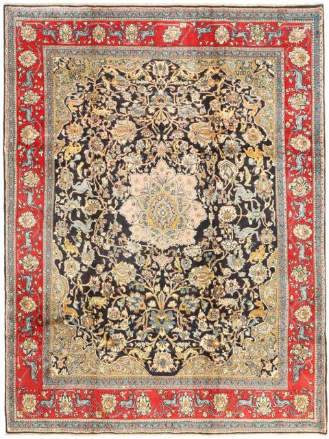 Классические персидские шерстяные ковры, мягкая шерстяная пряжа и изящные дизайны для изысканных интерьеров | Торанджи | Ковры с медальоном