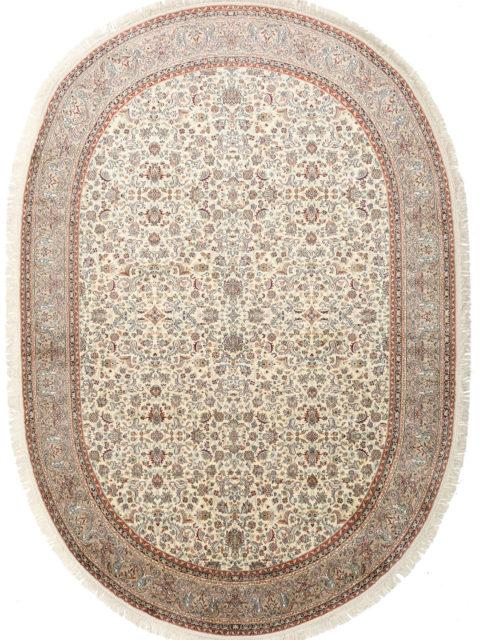 Овальные шелковые ковры ручной работы
