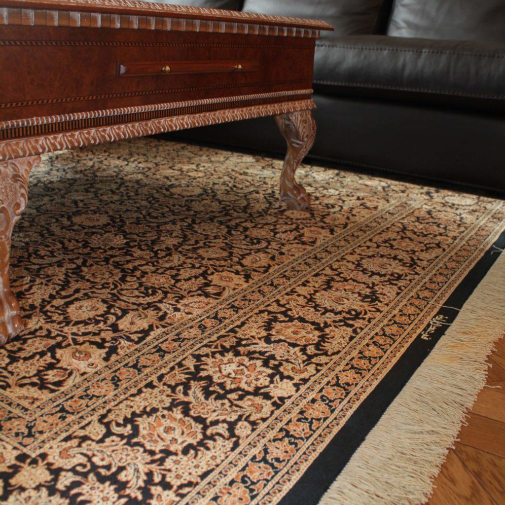 Персидские шелковые ковры ручной работы Кум Персиция