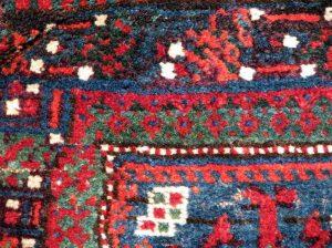 Фрагмент Афганский ковер, натуральные красители