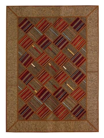 Качественный ковер (килим) пэчворк из лоскутов персидских килим. Ручная работа. Шерсть. В наличии.